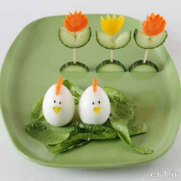 تزیین تخم مرغ آب پز برای کودکان
