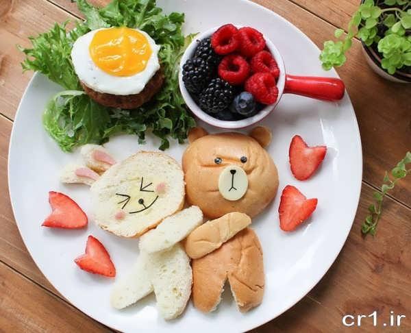 تزیین غذا برای بچه ها