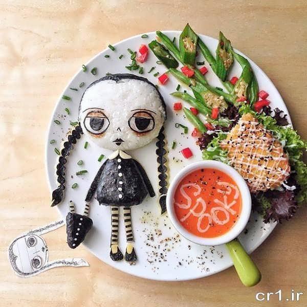 تزیین خلاقانه غذای کودک