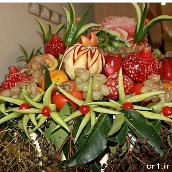 تزیین خیار برای میوه آرایی