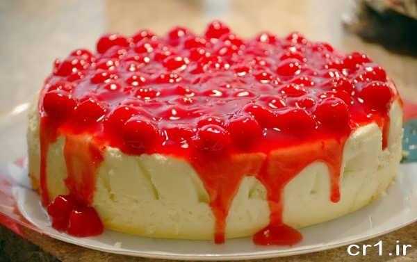 تزیین زیبای چیز کیک