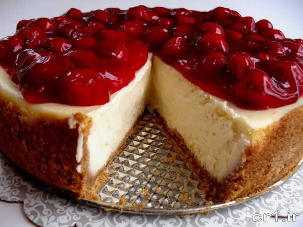 تزیین ساده چیز کیک میوه ایی