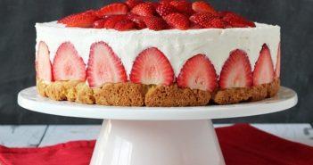 تزیین چیز کیک با میوه