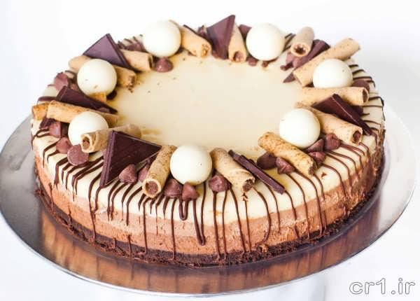 تزیین روی چیز کیک