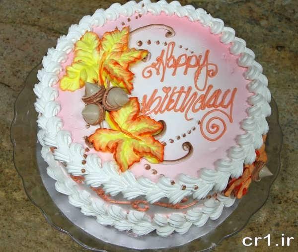 تزیین روی کیک با خامه و ژله
