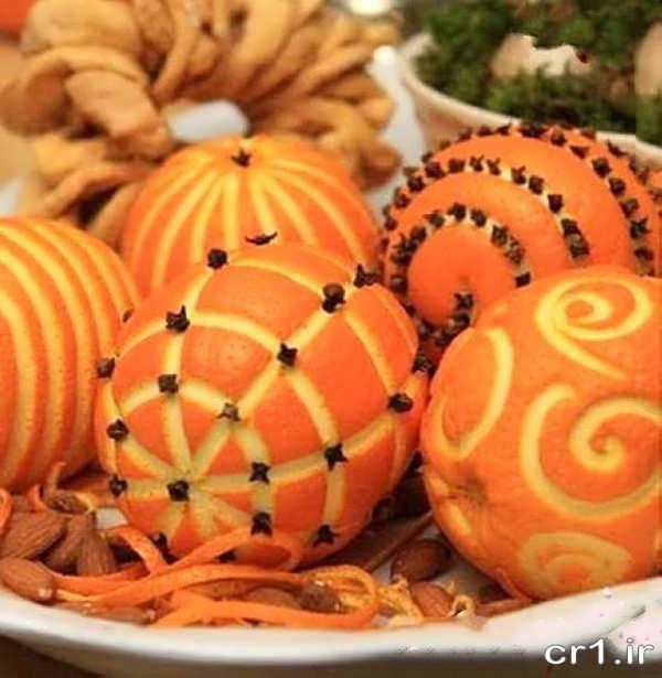 میوه آرایی شیک و زیبا با پرتقال