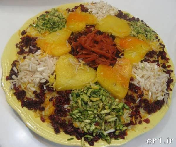 تزیین زیبای برنج مجلسی