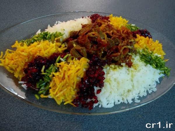 تزیین برنج مجلسی شیک و زیبا