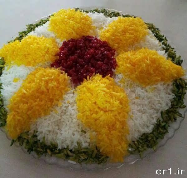 تزیین برنج برای مجلس