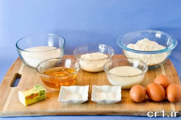 مواد لازم برای کیک اسفنجی
