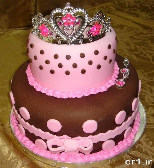 تزیین کیک خانگی برای تولد دخترانه