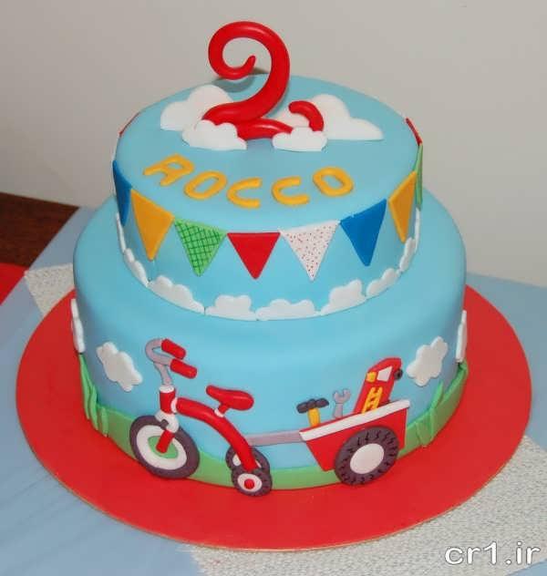 تزیین کیک پسرانه با فوندانت