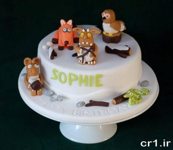 تزیین روی کیک برای تولد