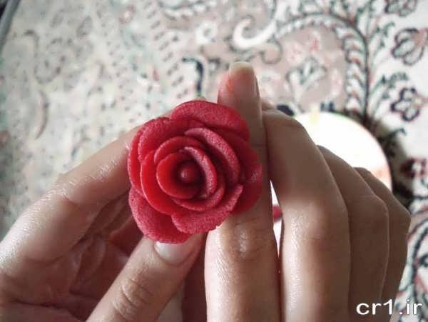 تزیین لبو به شکل گل
