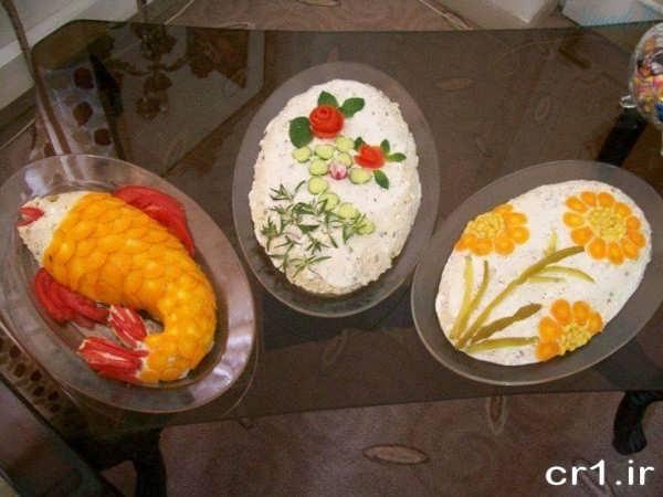 تزیین غذای تولد
