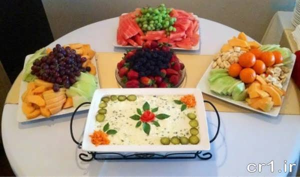 تزیین جدید غذاهای جشن تولد