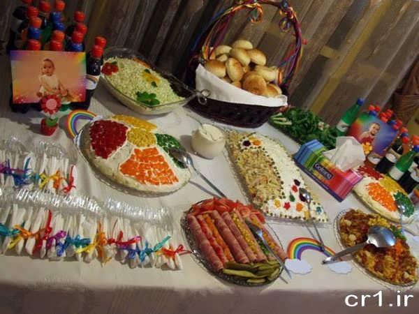 تزیینات میز تولد و غذاها