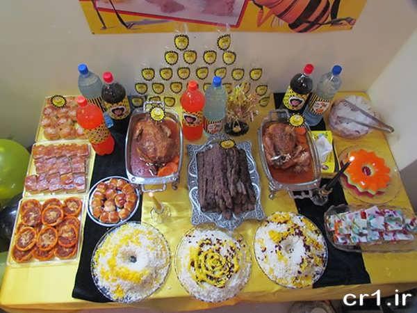 تزیین غذاهای جشن تولد کودکان