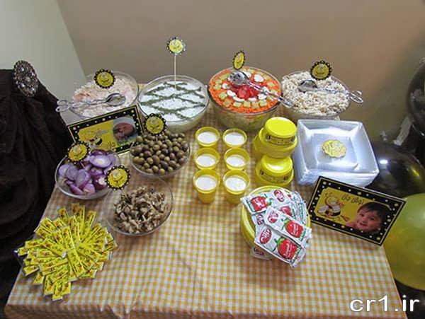 تزیین غذاهای جشن تولد
