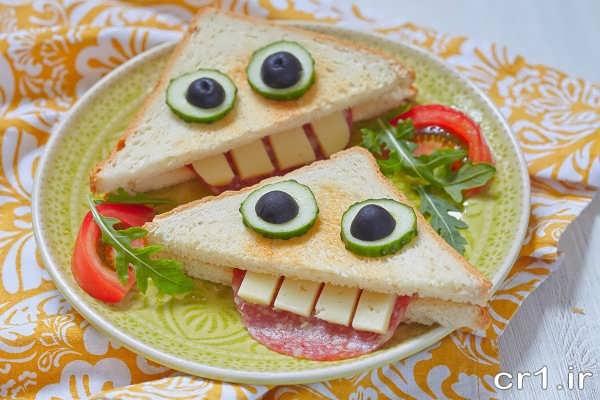 تزیین کودکانه ساندیوچ