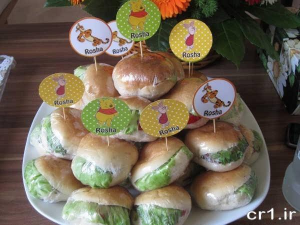 تزیین سینی ساندویچ برای تولد