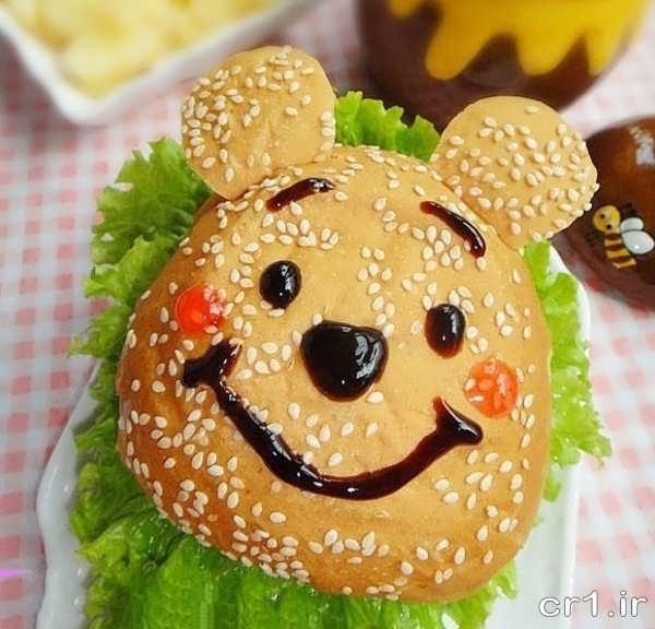 تزیین ساندویچ همبرگر برای تولد