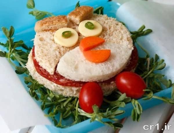 تزیین فانتزی ساندویچ برای تولد