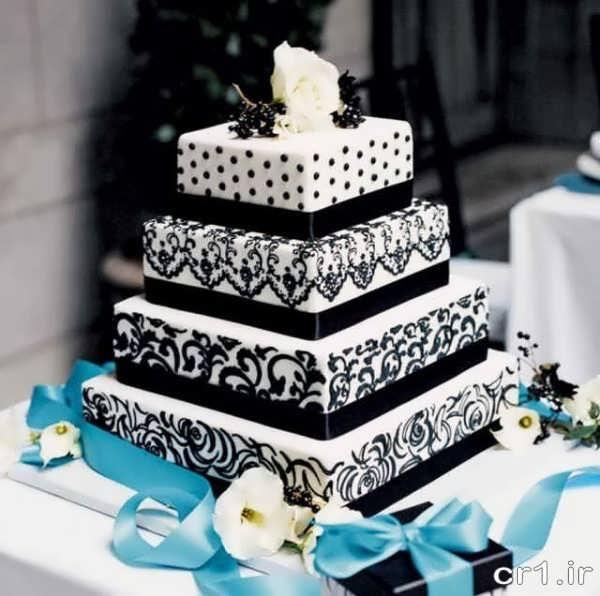 تزیین روی کیک عروسی با شکلات