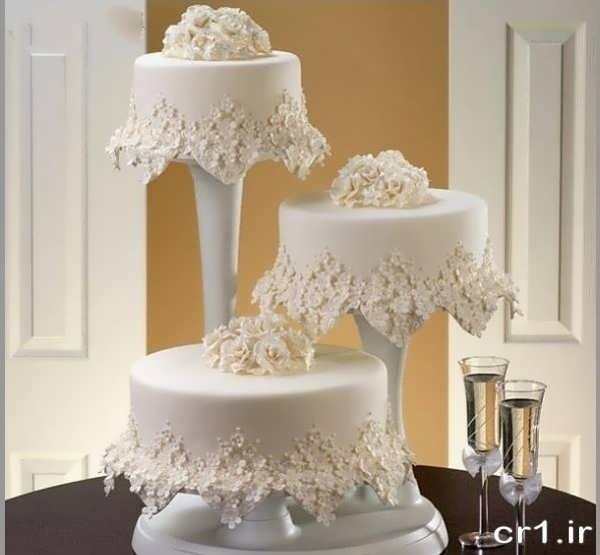 تزیین کیک عروسی با خامه