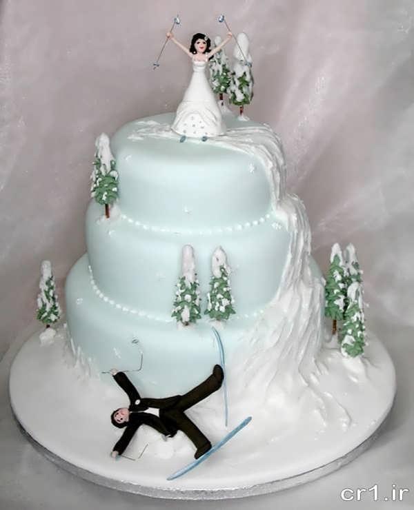 مدل کیک عروسی فانتزی و زیبا