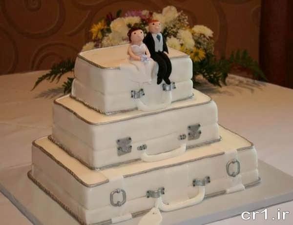تزیین کیک عروسی با خمیر فوندانت