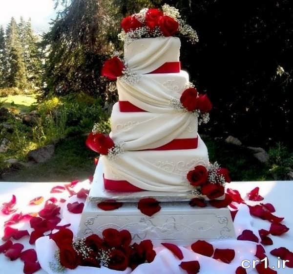 تزیین شیک کیک عروسی