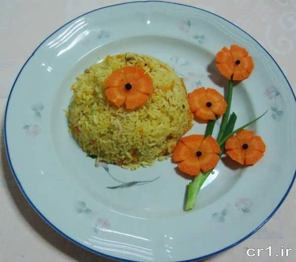 هویج پلو قالبی ساده