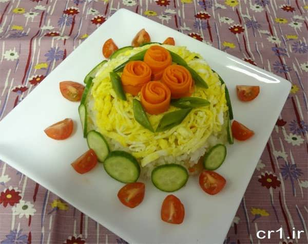 تزیینات هویج پلو قالبی زیبا و شیک