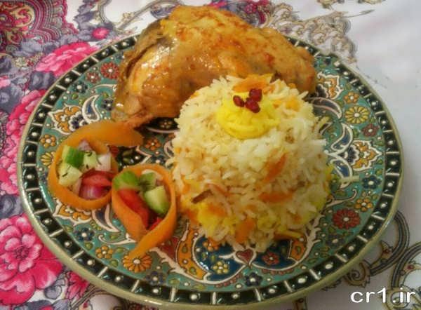 هویچ پلو با مرغ