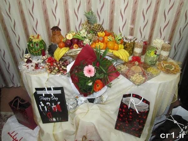 تزیین وسایل برای شب یلدا عروس
