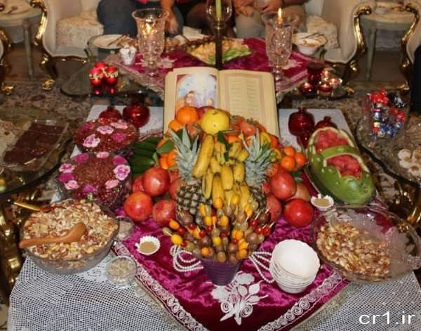 تزیین میز شب یلدا