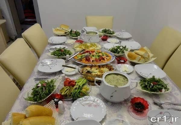 تزیین میز غذا زیبا و شیک