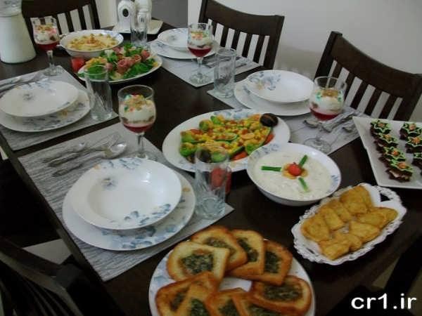 چیدن میز غذای زیبا