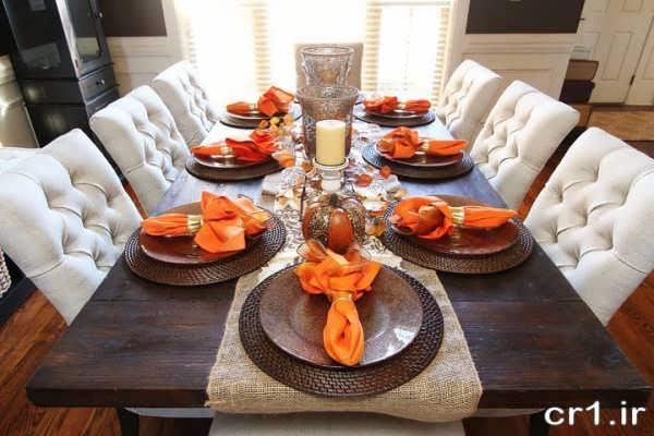 چیدمان زیبا و جدید میز شام