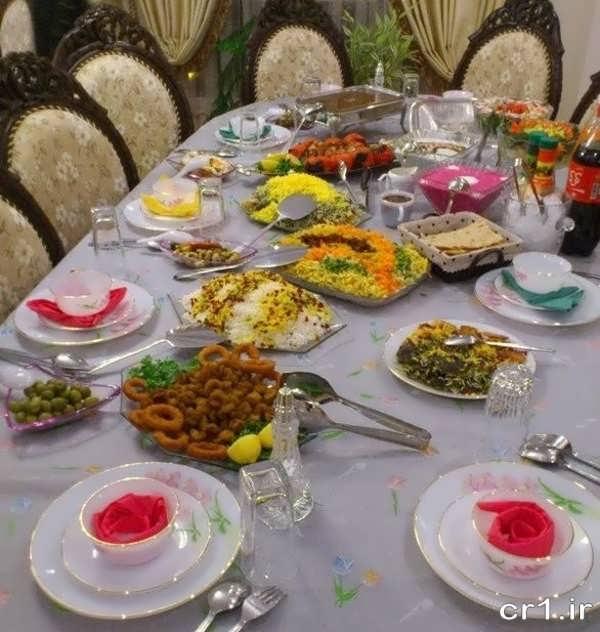 تزیین جدید میز غذا با ایده های زیبا