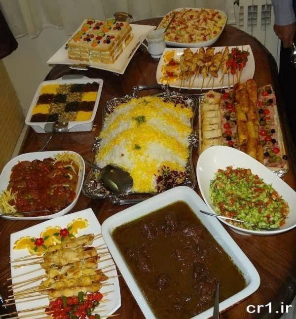 تزیینات میز غذا برای مهمان