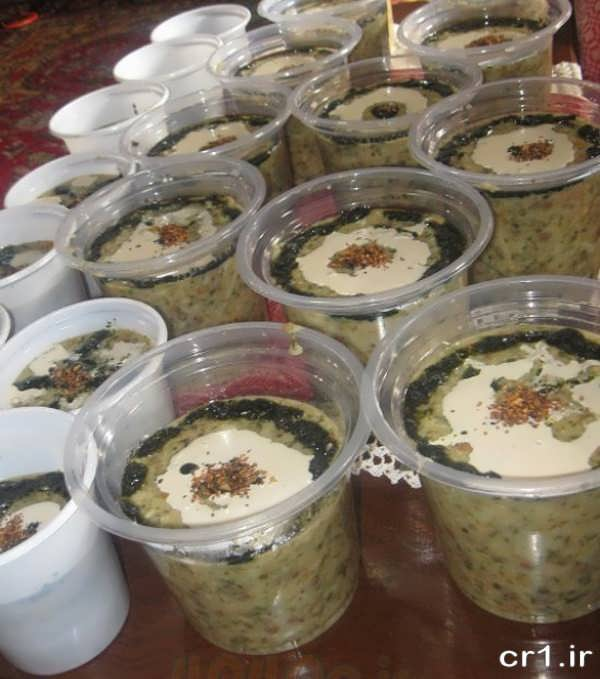 تزیین غذای نذری