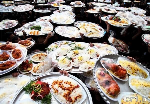 تزیین ساده غذای نذری