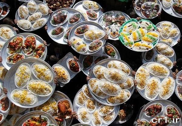 تزیین غذاهای نذری