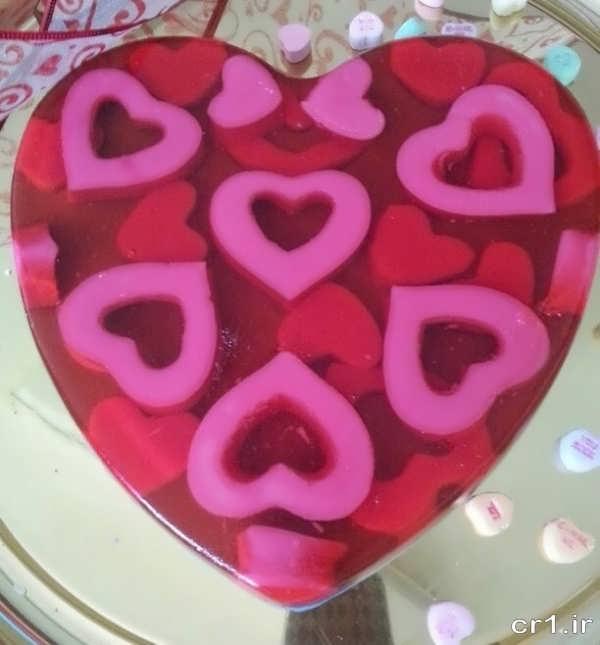 عکس تزیین ژله قلبی