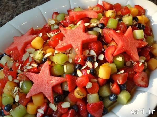 تزیین ظرف سالاد میوه
