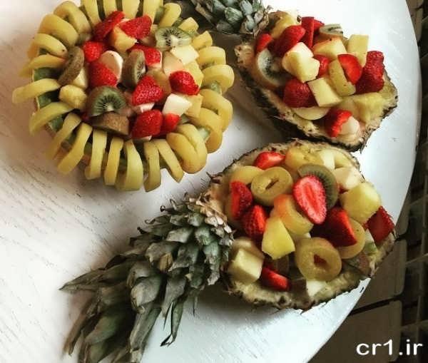 تزیین جالب سالاد میوه برای مهمانی