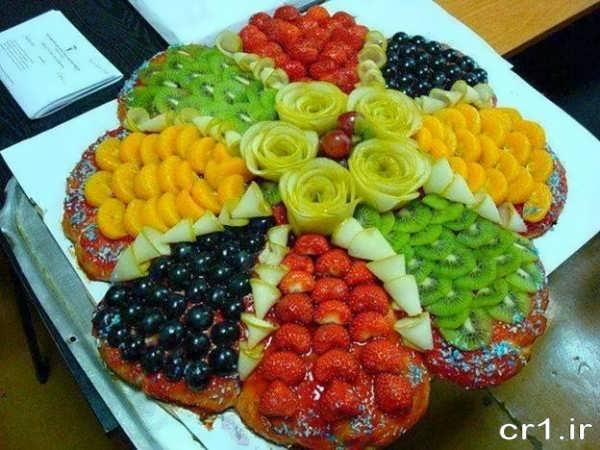 تزیین سالاد میوه تابستانی