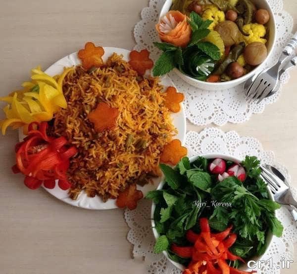 تزیین غذا برای مهمانی